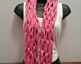 Knitted Infinity Scarf PINK
