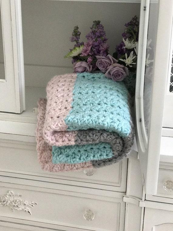 Crochet Baby Blanket Pattern Chunky Love Baby Blanket