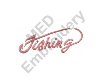 Fishing - Machine Embroidery Design
