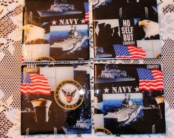 Coasters - Tile - Navy