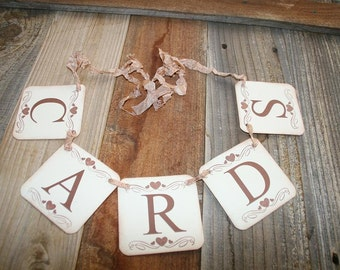 Cards Banner,  Wedding Garland, Cards Sign