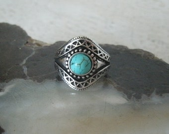 Turquoise Ring, southwestern jewelry southwest jewelry turquoise jewelry native american jewelry style country western cowgirl boho bohemian