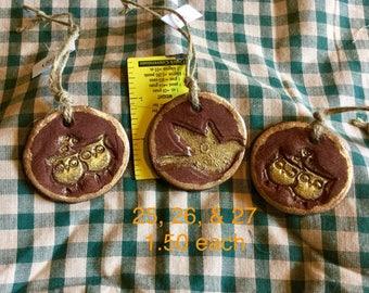 Cinnamon Dough Bird Ornaments