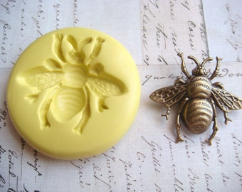BUMBLE BEE (size medium) - Flexible Silicone Mold - Push Mold, Jewelry Mold, Polymer Clay Mold, Resin Mold, Craft Mold, Food Mold, PMC Mold