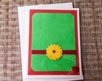 Apple Birthday Card. Apple Card, Apple Stationary, Apple Greeting Card, Blank Greeting Card