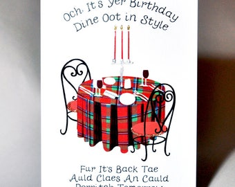 Birthday Dine Oot in Style Card WWBI44