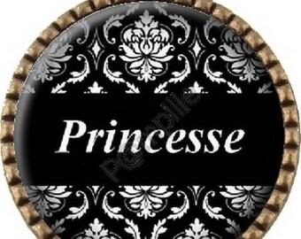 Bronze pendant Cabochon - Princess (243)