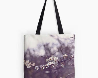 Pretty Wintery Blossom Tote Bag