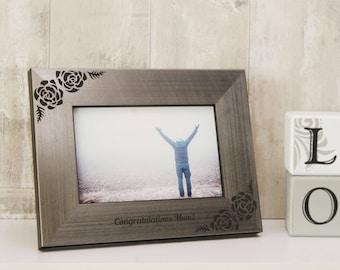 Personalised Rose Photo Frame