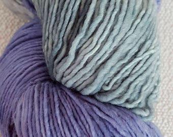 Plain & Fancy Hand Dyed Fine Wool Yarn Periwinkle/Sage Green