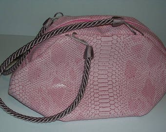Purse * Pink *-Pink faux leather
