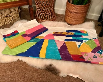 90's XL abstract pillowcase set