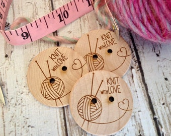 Custom button, design,  personalized, wood button, engraved button, button, knitting button, craft button,