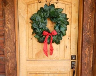 Christmas MAGNOLIA Wreath-Holiday Wreath-Christmas Door Wreath-Outdoor Wreath-All Season Door Wreaths-Housewarming Wreath-Holiday Home Decor