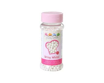 Brilliant FunCakes 80 gr white sugar pearls