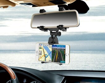 Fold able Car Mount / Car Rearview Mirror Mount holder for smartphone/iPhone/GPS