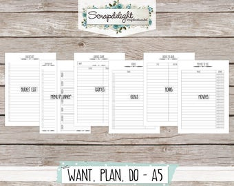 Scrapdelight Planner Kit 2017 - Clean - A5 Want-Plan-Do