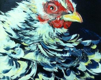 """Giclee Print - Fluffy Chicken! 8x10"""""""