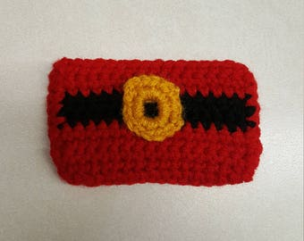 Santa suit Crocheted gift card holder