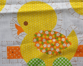 Mama Duck and Ducklings - Sewing Fabric Panel