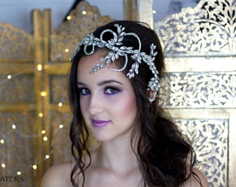 Vintage Bridal hair vine, boho hair jewelry, unique wedding hair accessories, Great Gatsby inspired headpiece
