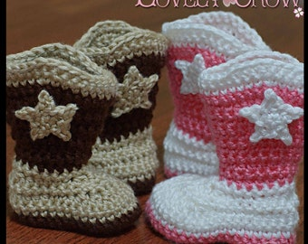 Toddler Cowboy Boots Crochet Pattern TODDLER BOOT SCOOTN Boots digital