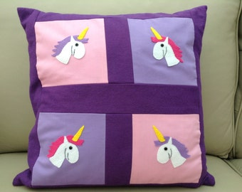Unicorn Patchwork Cushion Cover