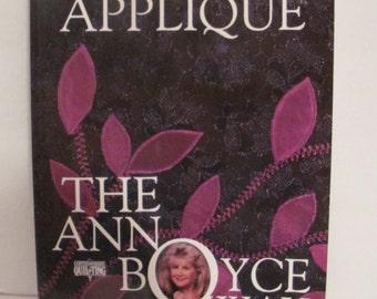 Applique The Ann Boyce Way Book