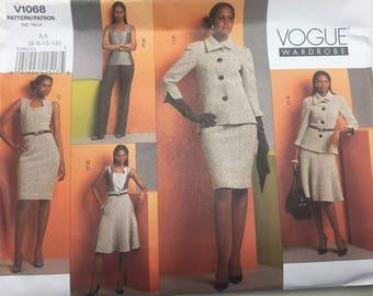 Vintage Vogue V1068 Jacket Dress Jumper Skirt Pants Pattern