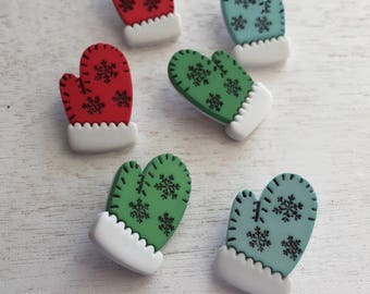 """Mitten Buttons, Packaged Novelty Buttons, """"Mitten Medley"""" Style 4712 by Buttons Galore, Sewing, Crafting Embellishments, Shank Back Butt"""