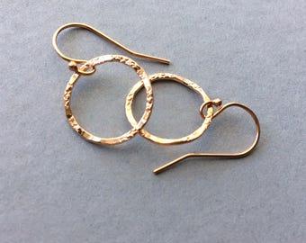 Rose Gold Earrings, Rose Gold Hoop Earrings, Small Hoop earrings, Rose Gold Filled Earring wires