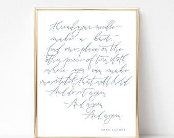 anne lamott brush calligraphy print     modern calligraphy fine art print   calligraphy quote   5x7 · 8x10 · 11x14 · 16x20