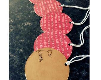 Christmas Gift Tags - Merry Christmas Gift Tags - Holiday Gift Tags- Gift Tags