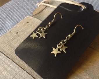 Earrings | Oxidized Brass
