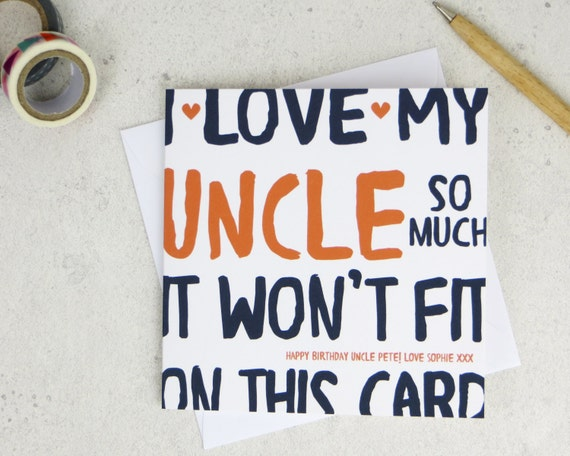 Funny Uncle Birthday Card Personalised Card Card For Uncle