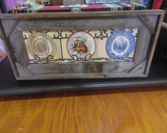 Correlated Wall Hanging, Vintage Plates