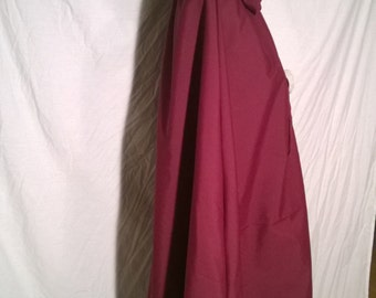 Wine Victorian Cloak  - Hooded Cloak - Long Cloak - Kinsale Cloak - Cloak with Hood - Cloaks and Capes - Semi-waterproof