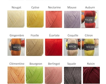 Cotton fifty Bergère de France, 23 colors to choose from, 50% cotton, 50 grams 140 metres, cotton Knitting yarn