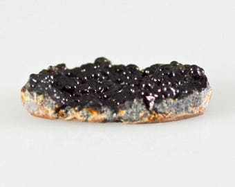 Botryoidal Black Agate Cabochon from Saguache County, Colorado/Ancient Dream Grape Agate