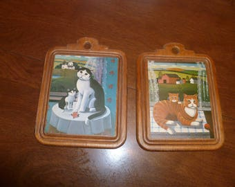 Two Pretty Kitties to Hang on Your Wall