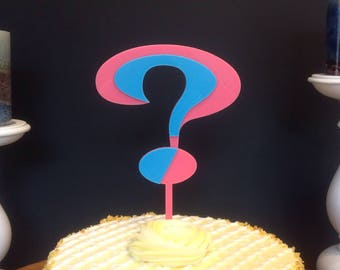 Gender Reveal Party Question Mark Cake Topper