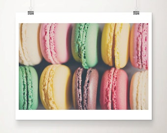 macaron photograph macaron print macaron art food photography food print kitchen wall art french decor paris decor rainbow photograph