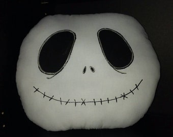 """Jack Skellington Inspired Nightmare Before Christmas Pillow 14"""" tall 17"""" wide...New IN STOCK"""