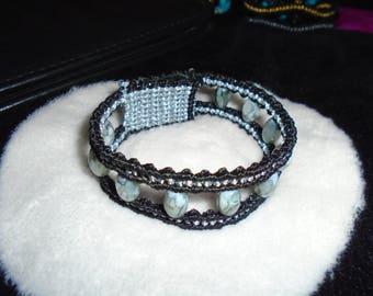 Black & Silver Macrame Friendship Bracelet for Girls