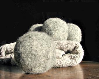 Dryer Balls - Wool Dryer Balls - Felted Wool Dryer Balls - Felted Dryer Balls - Eco Friendly Laundry - Cloth Diaper MUST - Set of 4