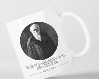 Love for All Living Creatures Charles Darwin Origin of Species Evolution Atheist Mug M1421