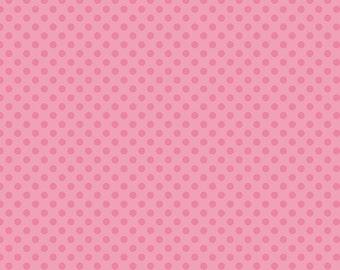 Hot Pink Tone on Tone Small Dots Fabric by Riley Blake Designs - Half Yard - 1/2 Yard - C420-70