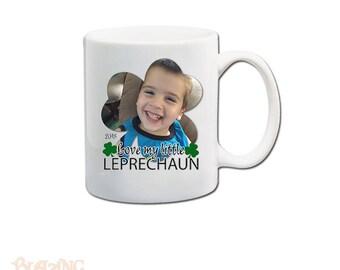 Custom Love My Little Leprechaun Personalized  Photo Coffee Mug; St. Patrick's Day Gift