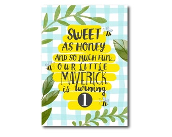Bee Birthday Invitation