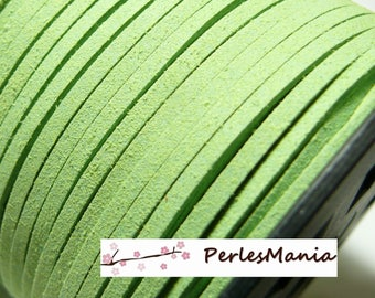 2 m of pistachio green suede PG0135 quality suede cord